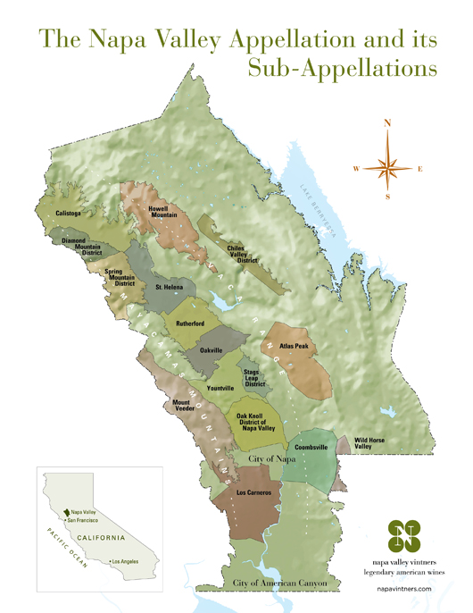 small napa valley ava map 2012