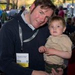 Christopher Sawyer and Son - Sommelier Christopher Sawyer with a future Rhone wine lover