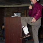 Auctioneer Todd Ventura Sports Fancy Boots - Todd was challenged to show off his snazzy boots during the auction.