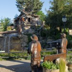 Water Wheel - Paso Robles' Fairground has a fun frontier theme, complete with water wheel and wooden pioneers.